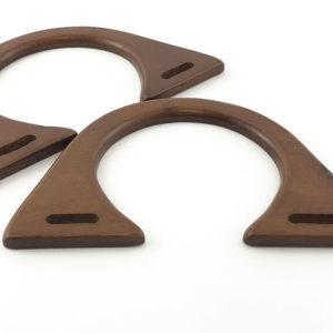 Artigianali ed esclusivi manici in legno, misure: 18x11 cm. ideali per borse e creazioni.