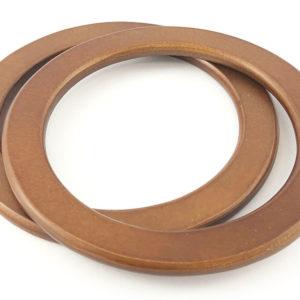 Manici in legno per borse M35 modello circolare, misura 16 cm. Confezione 2 pezzi.