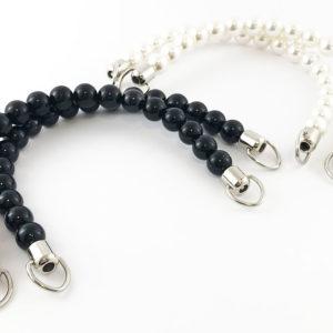 Artigianali ed esclusivi manici pearl per borse cm 17 prodotti da manifattura italiana. Ideali per realizzare, personalizzare e riparare le tue borse