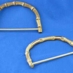 Artigianali ed esclusivi manici in bamboo traversa, misure: 17x11 cm. ideali per borse e creazioni.