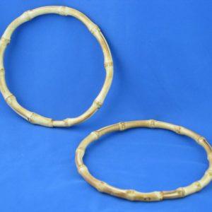 Artigianali ed esclusivi manici in bamboo rotondi diametro 17 cm. ideali per borse e creazioni.