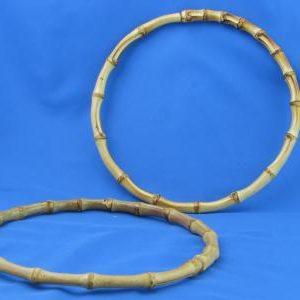 Artigianali ed esclusivi manici in bamboo rotondi diametro 20 cm. ideali per borse e creazioni.