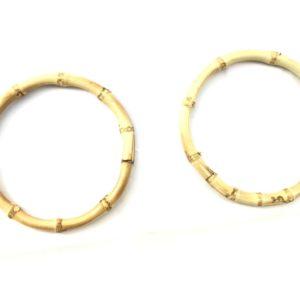 Artigianali ed esclusivi manici in bamboo rotondi diametro 11 cm. ideali per borse e creazioni.