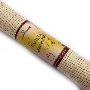 Paglia naturale viennese, misura 50x100 cm, composizione 100% fibra di legno. Ideale per realizzare, personalizzare e riparare le tue borse.
