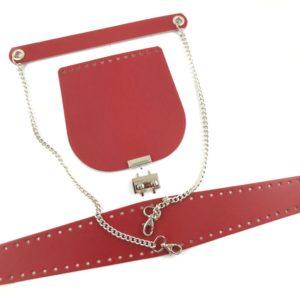 Set borsa PATELLA 20x20 con un fondo borsa, una coppia di manici borsa abbinati in simil pelle, laterale e tracolla. Disponibile in sei diversi colorazioni. Crea la tua borsa online grazie ai tanti accessori e set borsa presenti sul nostro shop online