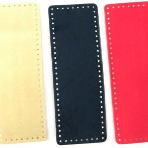 Fondi per borsa in pelle rettangolari artigianali ed esclusivi, disponibili in vari colori, prodotti da manifattura italiana. Misura 31x11 cm