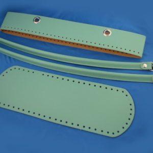 Set giroborsa manici con moschettone e fondo 30x10 cm. Composizione simil pelle. Crea e personalizza la tua borsa con questo fantastico set borsa.