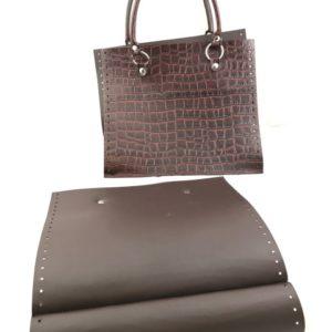Set borsa pannello con differenti disegni, non necessita di fodera, il set si riferisce ai soli particolari in pelle