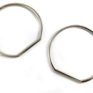 Manici anello acciaio per borse diametro 10 cm. Confezione 2 pezzi.