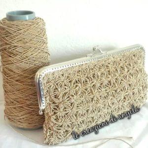 Cordino Swan Rowen effetto elegante per realizzare borse uniche dal tono glamour! Per uncinetto misura 3-3,5.