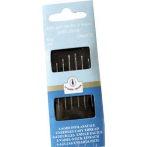 Aghi a mano infila facile per casa misure 4/8 in confezione da 6 pezzi.