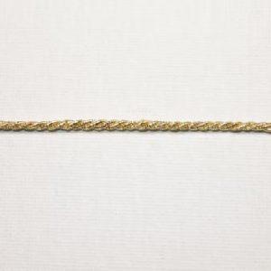 Cordoncino lurex altezza 0,2 cm in acetato. Disponibile nei colori oro e argento Articolo venduto al metro. La quantità inserita si riferisce ai metri che si intendono acquistare.