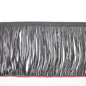Frangia Moda nero altezza 7 cm in acetato. Ideale per abiti danza Articolo venduto al metro. Inserisci la quantità desiderata