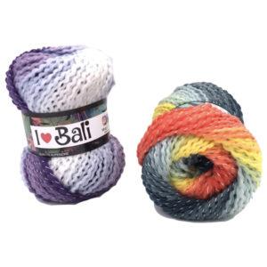 La Lana Bali è una tipologia di lana a fantasia dalle sfumature e dalla torsione straordinaria disponibile in 6 colorazioni differenti.