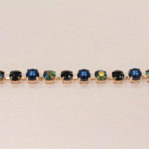 Passamaneria gioiello 0.8 cm in strass multicolor Articolo venduto al metro. Inserire nella quantità i metri che si intendono acquistare