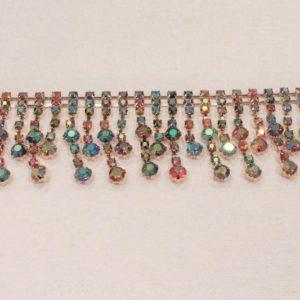 Passamaneria gioiello 2.3 cm in strass Articolo venduto al metro. Inserire nella quantità i metri che si intendono acquistare