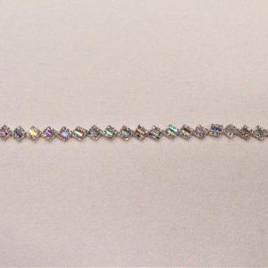 Passamaneria gioiello 1 cm in strass multicolor Articolo venduto al metro. Inserire nella quantità i metri che si intendono acquistare