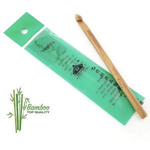 Uncinetto in bamboo eco disponibile in varie misure dalla 3 alla 9 mm.