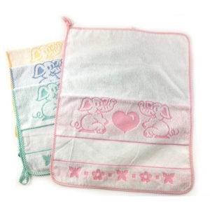 Asciugamano cuoricini confezione da 6 pezzi in colori assortiti. Ideale per ricami punto croce e altri.