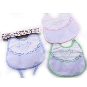 Bavaglino Coniglietto in tre colorazioni (celeste, rosa e verde). Prodotto artigianale di alta qualità, 100% cotone. Misura:18x20 cm. Ideale per ricami