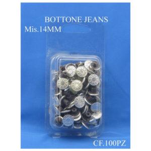 Bottoni automatici Jeans misura 14 mm confezione 100 pezzi