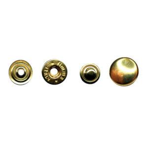 Bottoni a pressione in ferro strappo leggero miura 12,5 mm in confezione da 250 pezzi