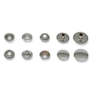 Bottoni a pressione in ferro strappo forte argento