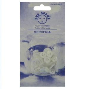 Bottoni per camicia colore bianco perla