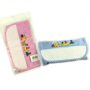 Bustina Scuola, con banda aida per ricamo e applicazione trenino 13 cm. Misure: 17x28 cm. Disponibile in celeste e rosa