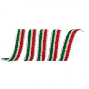 Elastico morbido tricolore 7 mm Articolo venduto al metro. Inserire nel quantità i metri desiderati.