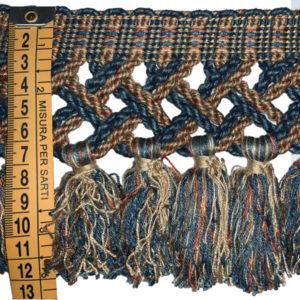 frangia blu rame corda 12 cm