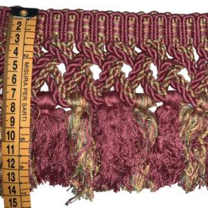 frangia bordeaux e multicolor h 14 cm