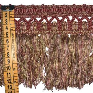 frangia bordeaux multicolor 13 cm