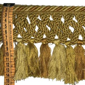 frangia giallo oro 15 cm