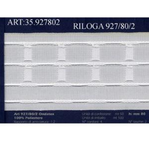 Riloga 927/80/2 con piega automatica per tende.