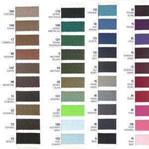 Tabella colori nastro gros-grain
